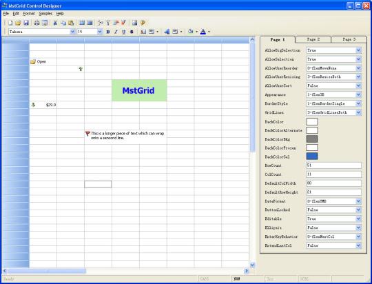 MstGrid ActiveX Control