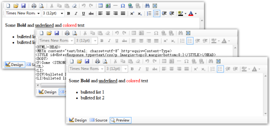 MstHtmlEditor Control for .NET WinForms