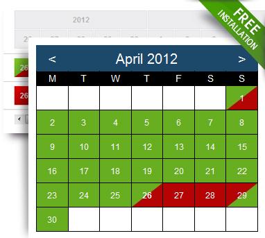 Multi Availability Calendar