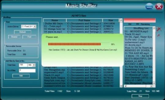 Music Shuffling