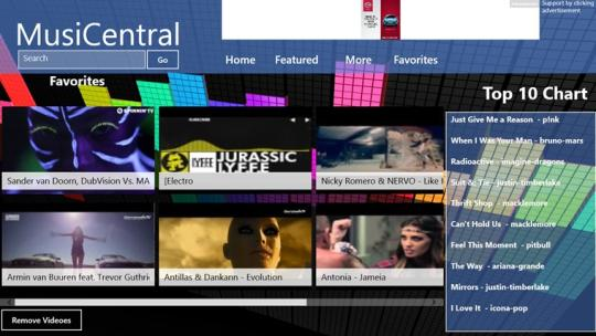 MusiCentral for Windows 8