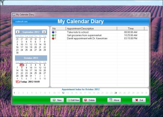 My Calendar Diary Portable