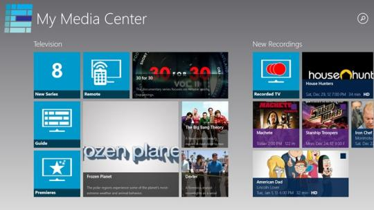 My Media Center for Windows 8