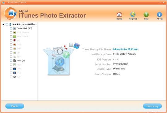 MyJad iTunes Photo Extractor