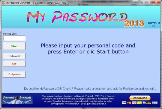 MyPassword DB Crypto