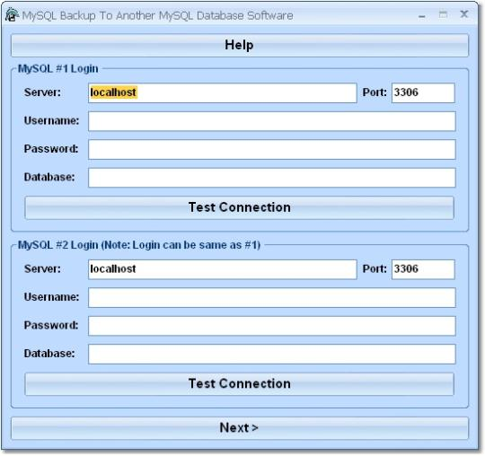 MySQL Backup To Another MySQL Database Software