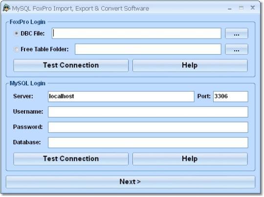 MySQL FoxPro Import, Export & Convert Software