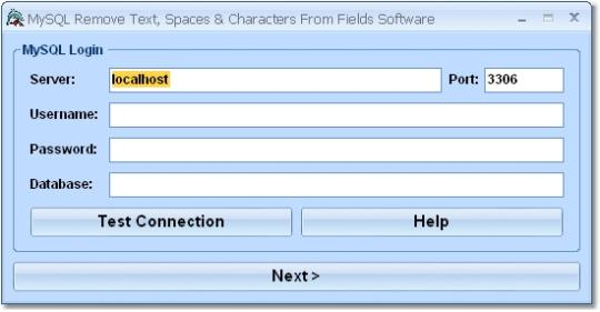 MySQL Remove Text, Spaces & Characters From Fields Software