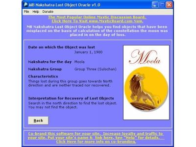 Nakshatra Lost Object Oracle