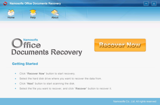 Namosofts Office Documents Recovery