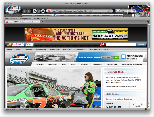 NASCAR Nationwide Series Boom