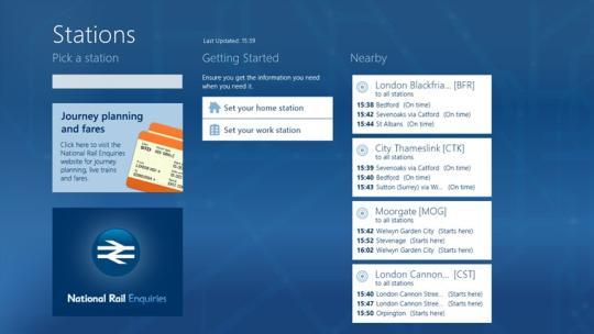 National Rail Enquiries for Windows 8