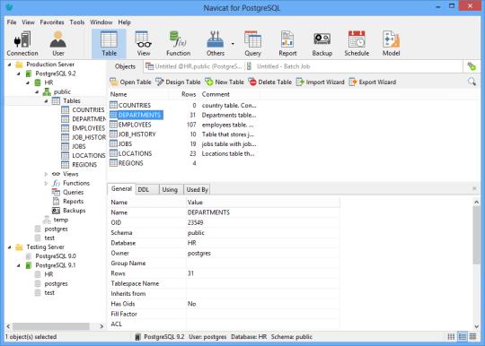 Navicat Essentials for PostgreSQL (32-bit)