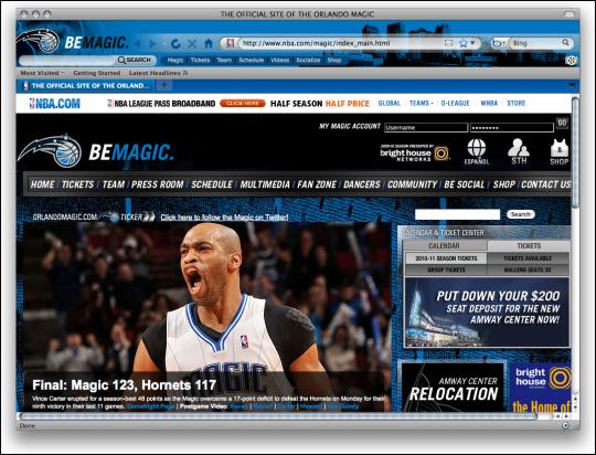NBA Orlando Magic Firefox Theme
