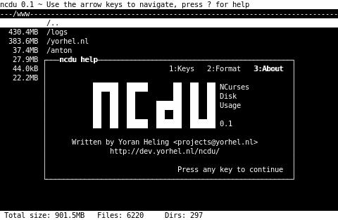 NCurses Disk Usage