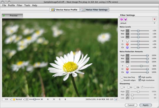 Neat Image plugin for Aperture