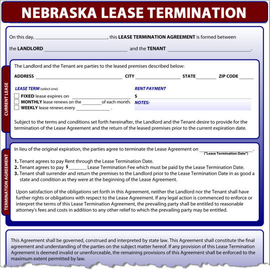 Nebraska Lease Termination