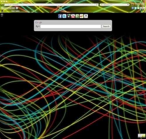 Neon Lights Firefox theme