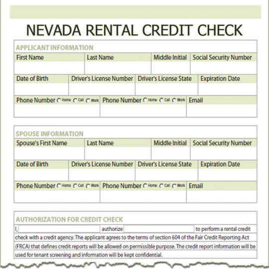 Nevada Rental Credit Check
