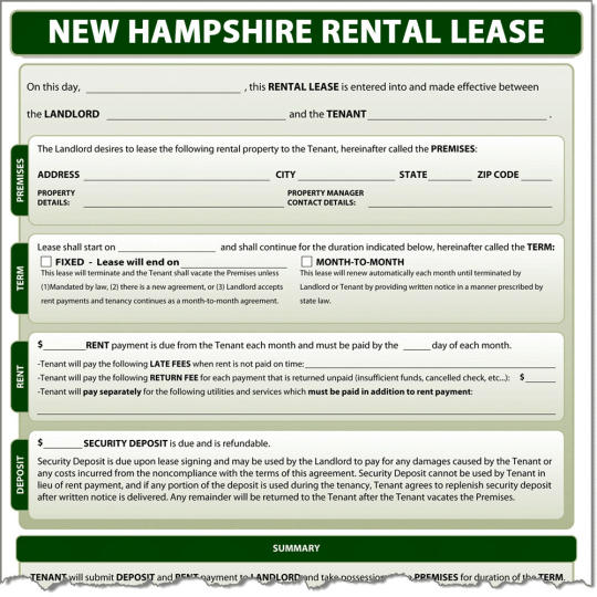 New Hampshire Rental Lease