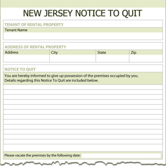New Jersey Notice To Quit