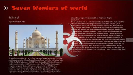 New seven wonders of world for Windows 8