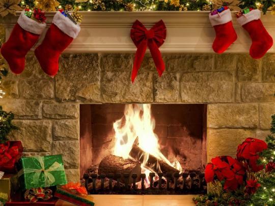 New Year Fireplace Screensaver