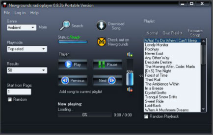 Newgrounds Music Player Portable