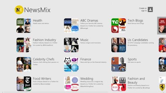 NewsMix for Windows 8