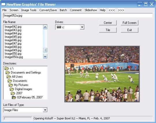 NewView Graphics' File Viewer