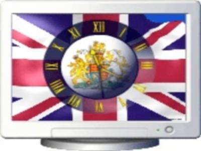 NFS GB Flag Clock