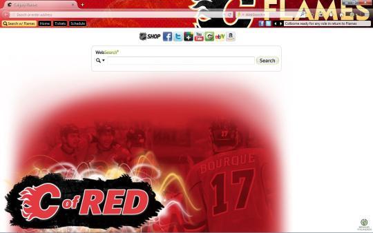 NHL Calgary Flames Theme for Firefox
