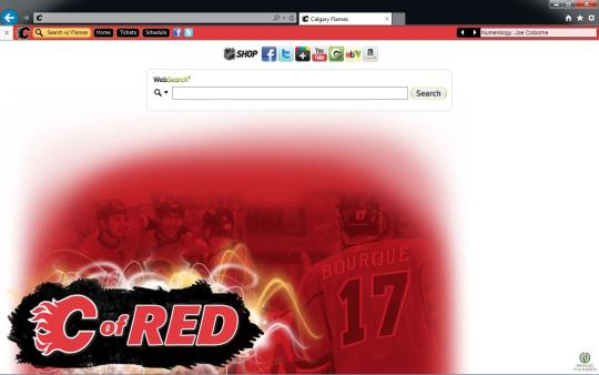 NHL Calgary Flames Theme for Internet Explorer