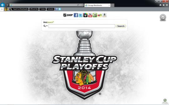 NHL Chicago Blackhawks Theme for Internet Explorer