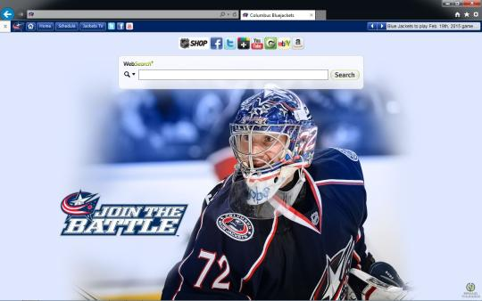 NHL Columbus Blue Jackets Theme for Internet Explorer