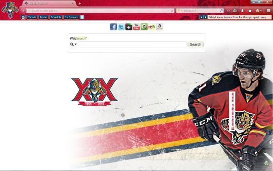 NHL Florida Panthers Theme for Firefox