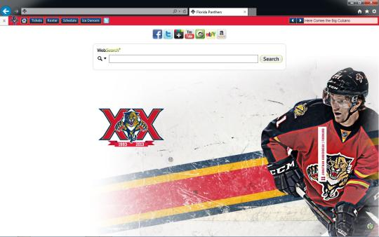 NHL Florida Panthers Theme for Internet Explorer