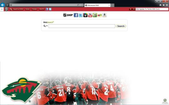 NHL Minnesota Wild Theme for Internet Explorer