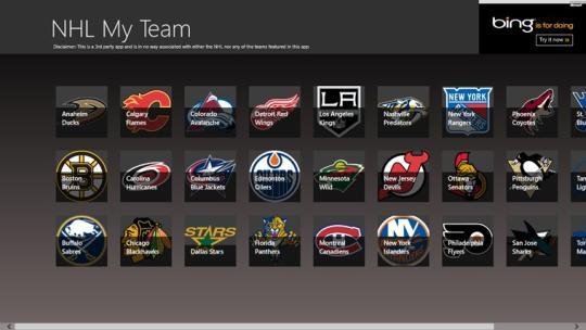 NHL My Team for Windows 8