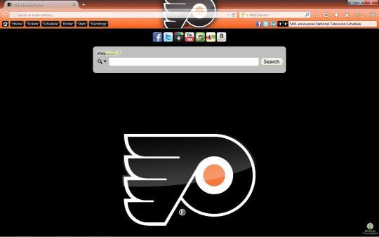 NHL Philadelphia Flyers Theme for Firefox