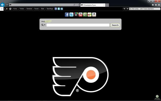 NHL Philadelphia Flyers Theme for Internet Explorer