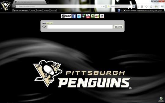 NHL Pittsburgh Penguins Theme for Firefox