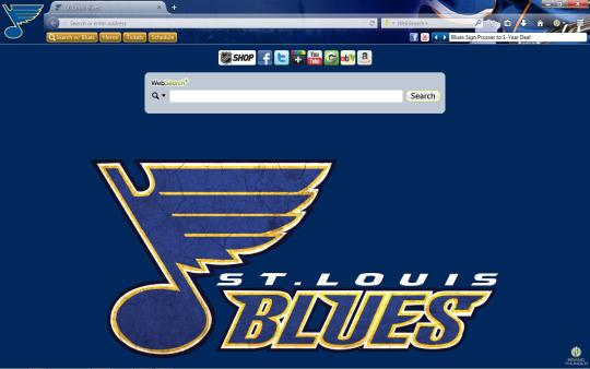 NHL St. Louis Blues Theme for Firefox