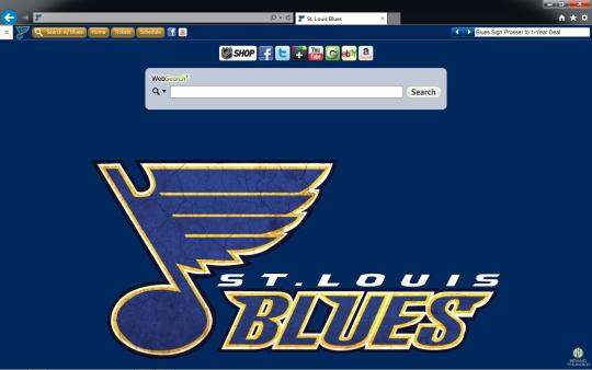 NHL St. Louis Blues Theme for Internet Explorer