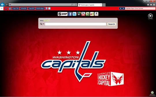 NHL Washington Capitals Theme for Internet Explorer