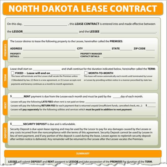 North Dakota Lease Contract