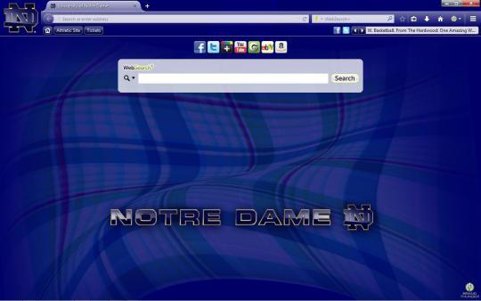 Notre Dame Fighting Irish Theme for Firefox