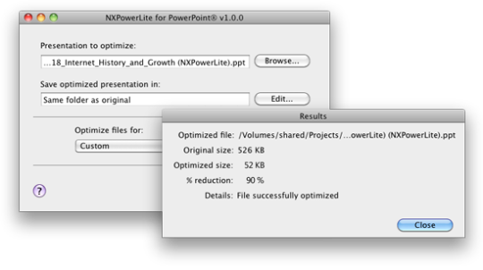 NXPowerLite for PowerPoint