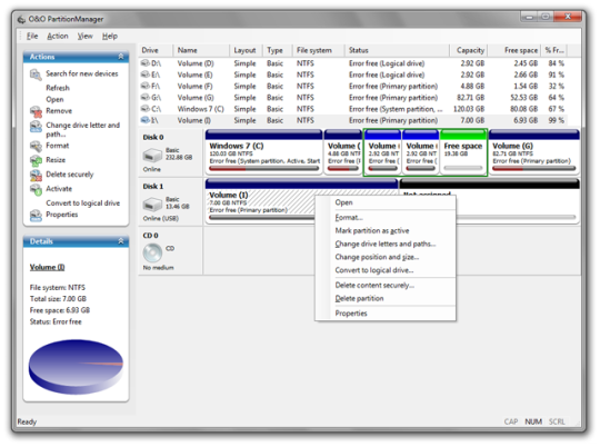 O&O PartitionManager Professional Edition