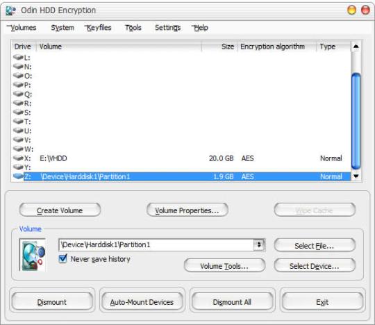 Odin HDD Encryption